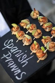 Label your canapes. love the idea of the chalk board