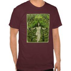 Vintage Style Art Nouveau Absinthe Poster Shirt
