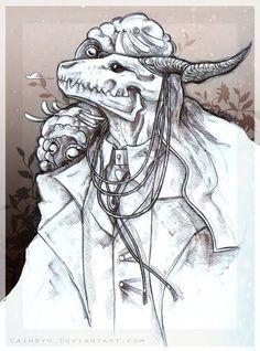 Elias Ainsworth by CaimRyo on DeviantArt Elias Ainsworth, Chise Hatori, Arte Do Kawaii, The Ancient Magus Bride, Arte Horror, Soul Art, Cool Animations, Deviantart, Dark Art