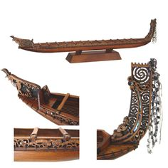 The 'Waka' or Maori canoe represents the great feats of Maori travel in a time past - and not to mention in times of war on these shores Bronze Sculpture, Wood Sculpture, Abstract Sculpture, Diy Miter Saw Stand, Papua Nova Guiné, Polynesian People, Maori Patterns, Maori Designs, Nz Art