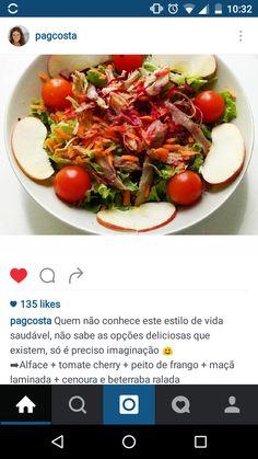 salada: alface, tomate cherry + peito de frango + maçã + cenoura +  beterraba
