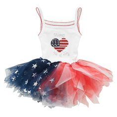 Make this tutu for the 4th of July reunion with the no sew tutu diy