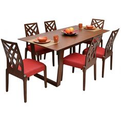COMMODITY Juego de Comedor / TMH213 2006T / Madera Para 6 personas, hecho de madera con sillas de madera y estilo clásico. #ElSalvador #Honduras #Mayo Modern Dinning Table, Dinning Tables And Chairs, Dining Table Design, Dining Room Table, Sheesham Wood Furniture, Dining Furniture, Modern Furniture, Outdoor Furniture Sets, Furniture Design