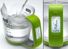 digital measuring jug - perfect when you can't read the standard measuring cup Home Gadgets, Gadgets And Gizmos, Kitchen Gadgets, Travel Gadgets, Clever Gadgets, Awesome Gadgets, Spy Gadgets, Cooking Gadgets, Ikea Kitchen