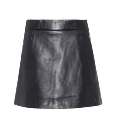 Ganni - Passion leather mini skirt - Upgrade your mini skirt options with Ganni's leather Passion style. Crafted from soft lambskin in a classic black hue, this A-line design will pair seamlessly with blouses and shirts alike. We like how the clean-cut piece pairs with suede ankle boots. seen @ www.mytheresa.com
