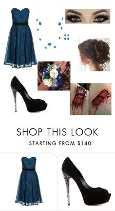 """You'll never be the prom queen"" by fadesintime ❤ liked on Polyvore featuring Little Mistress and Casadei"