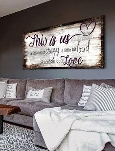 Family Wall Art, Home Wall Art, Family Room, Home Living Room, Living Room Decor, Shabby, Bedroom Wall, Farmhouse Decor, Diy Home Decor
