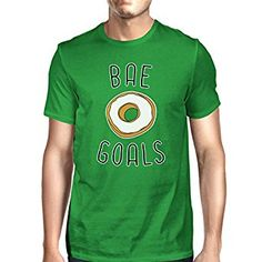 365 Printing Bae Goals Men's Green T-shirt Round Neck Funny Quote For Couples