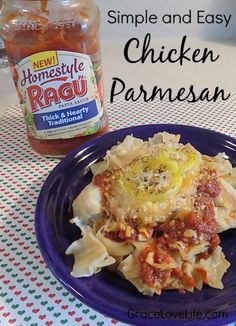 Easy and Traditional Chicken Parmesan. You are going to love this delicious pasta recipe! https://ooh.li/20bd217 #ad #simmeredintradition