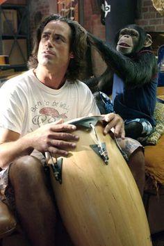 """""""that's right, monkey, play my head like a drum!"""" hahahaha, i love grandma's boy :)"""