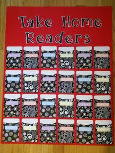 Time 4 Kindergarten: Library Pockets- I love these jazzy library pockets! Kindergarten Classroom Management, Classroom Organisation, Kindergarten Literacy, School Organization, Classroom Procedures, Classroom Activities, Future Classroom, School Classroom, Classroom Decor