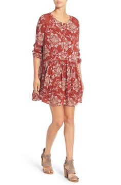 Pairing this crochet lace trim dress with a brown moto jacket for a cute date night look.