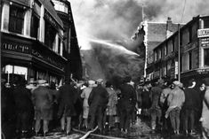 Huge crowds gathered as firefighters battled the RHO HIlls blaze in 1967 Blackpool England, Back Pictures, St Anne, Firefighters, Smoke, Memories, Street, Places, Life