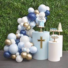 Baptism Party Decorations, Baptism Themes, Baptism Favors, Party Themes, Baby Boy Baptism, Baby Christening, Boy Baptism Party, Safari Birthday Cakes, Baby Birthday