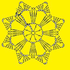 How to Crochet a Puff Flower - Her Crochet Crochet Snowflake Pattern, Crochet Motifs, Crochet Snowflakes, Crochet Flower Patterns, Crochet Diagram, Crochet Chart, Crochet Squares, Thread Crochet, Crochet Granny