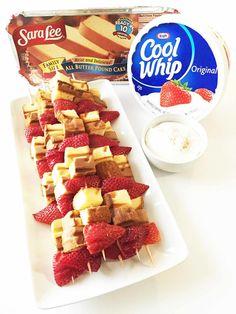 ... Strawberry Shortcake Kabobs with Skinny Cheesecake Dip — The Skinny