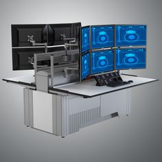 SBFI Trading Desk Model available on Turbo Squid, the world's leading provider of digital models for visualization, films, television, and games. Pc Gaming Desk, Pc Desk, Gaming Setup, Trading Desk, Day Trading, Office Setup, Desk Setup, Tech Room, Startup Office
