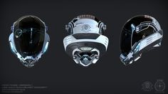Concept Art for the game Star Citizen. Star Citizen, Armor Concept, Concept Art, Futuristic Helmet, Combat Suit, Sci Fi Armor, Tactical Equipment, Helmet Design, Sci Fi Characters