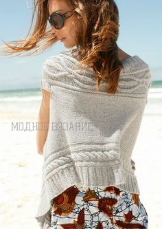 Жилет-шарф спицами - просто шикарная штучка - Модное вязание