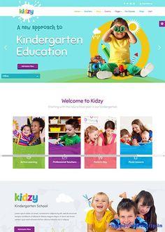 30 Best Kids & Kindergarten WordPress Theme 2020 | Frip.in Kindergarten Websites, Kindergarten Design, Kids Websites, School Website Templates, Web Design School, Pag Web, Education Banner, Web Banner Design, School Posters