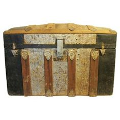 Check out this item at One Kings Lane! Antique Trunk