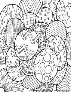 Mandala oeufs de Pâques