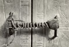 The unbroken seal on King Tut's Tomb.