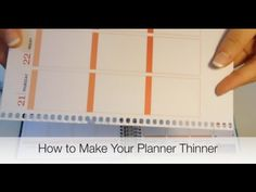 Tip Tuesday: Making Your Planner Thinner. Erin Condren Life Planner.