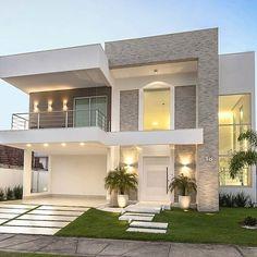 Top 10 Modern house designs – Modern Home Facade Design, Exterior Design, Architecture Design, Architecture Interiors, House Front Design, Modern House Design, Home Design, Future House, My House