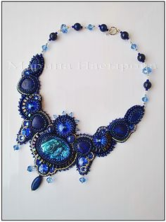 Beautiful embroidered jewellery by Marina Nasyrova - Marina Nasyrova'dan farklı fikirler