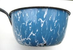 Vintage Enamelware Pan Blue