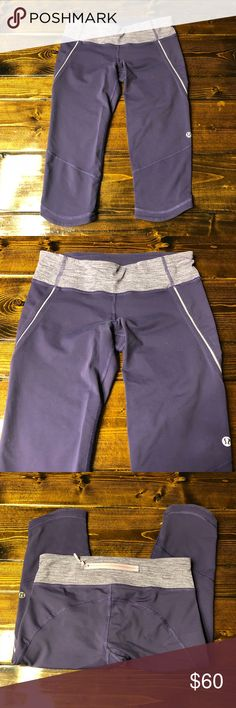 Lululemon Excel Crop size 4 Concord grape and rose quartz colored. Beautiful condition, smoke free home. lululemon athletica Pants Leggings