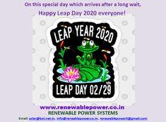 #Renewablepowersystemsdelhi wishes #LeapDay2020