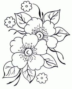 Embroidery Flowers Pattern, Crewel Embroidery, Hand Embroidery Designs, Vintage Embroidery, Floral Embroidery, Flower Patterns, Machine Embroidery, Flower Pattern Drawing, Flower Drawings