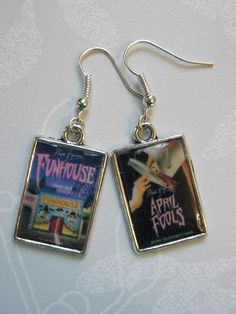 Point Horror Earrings: April Fools and Funhouse  £3.50