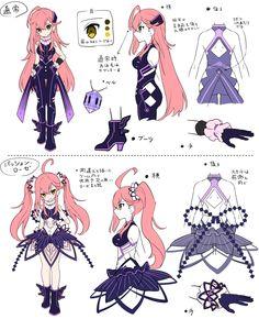 まずは、孤高の烈刃、クレアちゃんの紹介なのだよ♪ クレアちゃんのパッション・ローゼ、全力で恥じらいを押し殺しているところが、闇に住まいし哀れなものたちにも光の楽しみをもたらしそう…(゚ー゚*?)?、なのだよね(≧v≦●)♪ #メルスト Game Character Design, Character Sheet, Character Reference Sheet, Character Concept, Character Design References, Character Art, Manga Characters, Cute Characters, Drawing Sketches