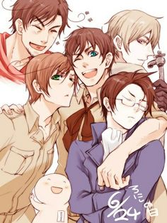 Hetalia - Rome, Russia, Spain, Romano and Austria