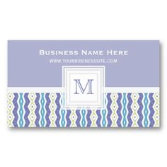 Berry Weave : Monogram Business Card