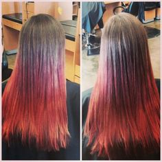 Red ombre #hairbyamie