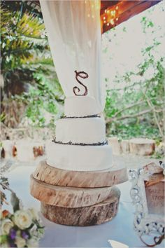 Rustic White Wedding Cake created by Your Cake Baker