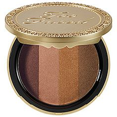 Too Faced - Beach Bunny Custom-Blend Bronzer in Beach Bunny - bronze/ soft peach/ golden ivory/ golden tan  #sephora