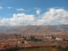 View of Cusco from the surrounding hillside. Cusco is the navel of the Inca world. Click here to learn more about Llama Expeditions' Train to Machu Picchu adventure!