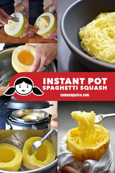 Instant Pot spaghetti squash is a fabulous vehicle for an umami-packed sauce. And did you know you can pressure cook it in just minutes in an Instant Pot? #instantpot #paleo #whole30 #vegetarian #vegan #lowcarb #nomnompaleo