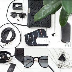 Gebe deinem Outfit den letzten Schliff ... mit Accessoires! Black ist beautiful .... auch und insbesondere im Sommer auf gebräunter Haut! Leather Belt: Buckles & Belts - Torean in nero