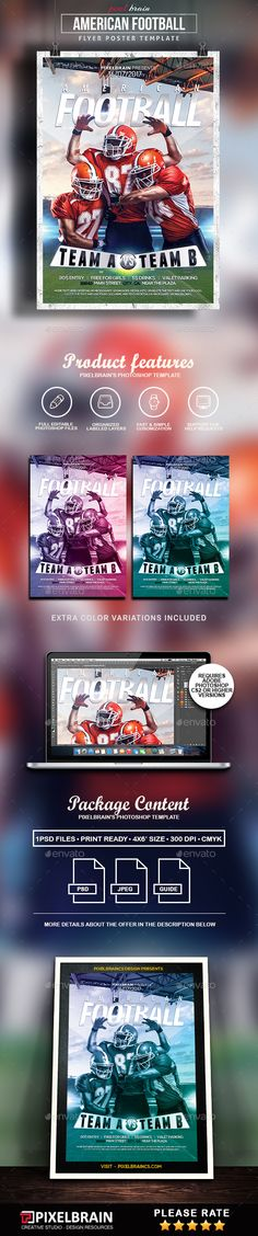 Football Flyer Event flyers, Font logo and Flyer template