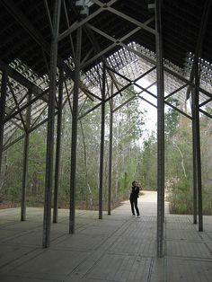 Pinecote Pavilion by hiddenlibrary, via Flickr