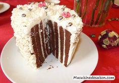 Gâteau roulé vertical au chocolat et mascarpone vanille Pudding, Coups, Food, Cooking Food, Custard Pudding, Essen, Puddings, Meals, Yemek