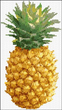 Cross Stitch | Pineapple xstitch Chart | Design                                                                                                                                                                                 More