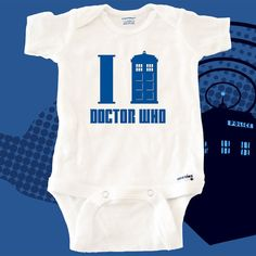 """Doctor Who """"I Tardis Doctor Who"""" Handmade Onesie BABY SAFE Material"""