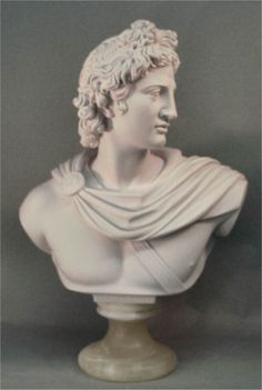 Sculptural Bust Of Apollo popular god in Greek and Roman Mythology plaster statue. Roman Sculpture, Sculpture Art, Apollo Tattoo, Apollo Belvedere, Academic Drawing, Ancient Greek Sculpture, Marble Bust, Roman Gods, Greek And Roman Mythology